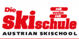 Skischule rot weiss